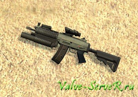 Скин оружия для Sig 552 – Default Animation m203 sig552
